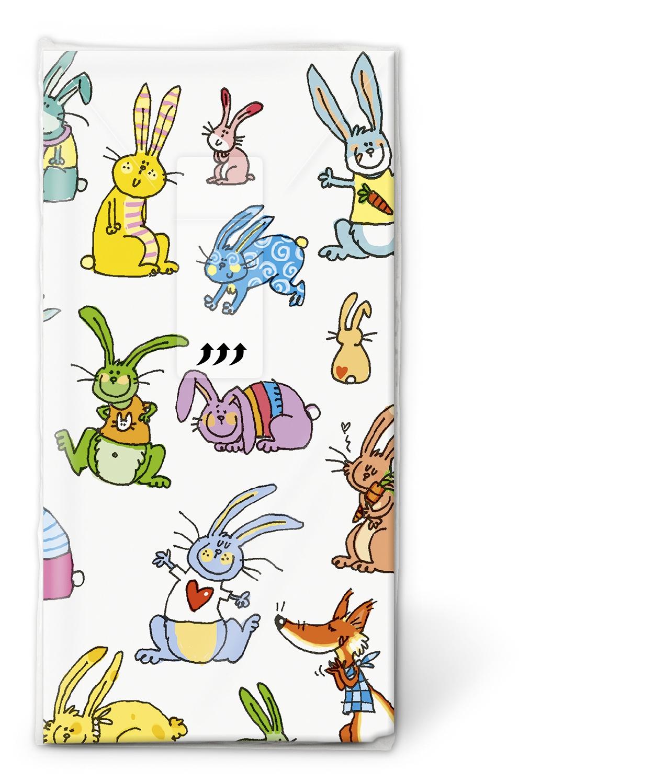 Paper+Design,  Ostern,  Tiere,  Ostern,  bedruckte papiertaschentücher,  Osterhasen