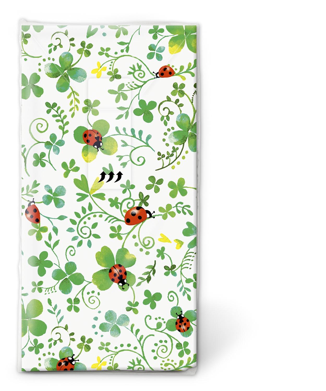 Paper+Design,  Tiere,  Everyday,  bedruckte papiertaschentücher,  Kleeblatt,  Marienkäfer