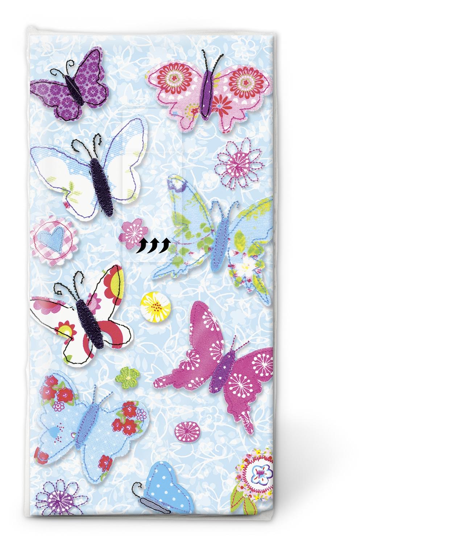 Taschentücher TT Handmade butterflies,  Tiere,  Everyday,  bedruckte papiertaschentücher,  Schmetterlinge