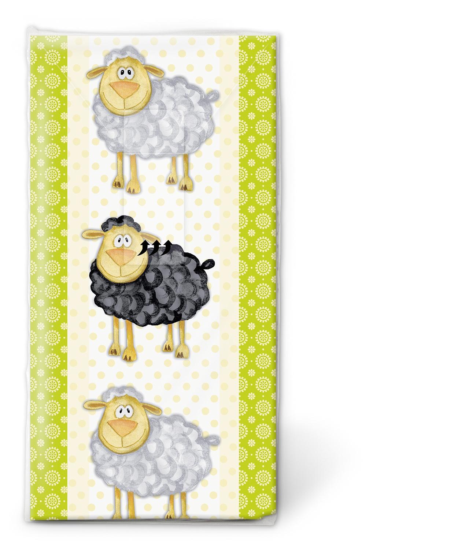 Taschentücher TT Five and one,  Tiere,  Sonstiges,  Everyday,  bedruckte papiertaschentücher,  Schafe