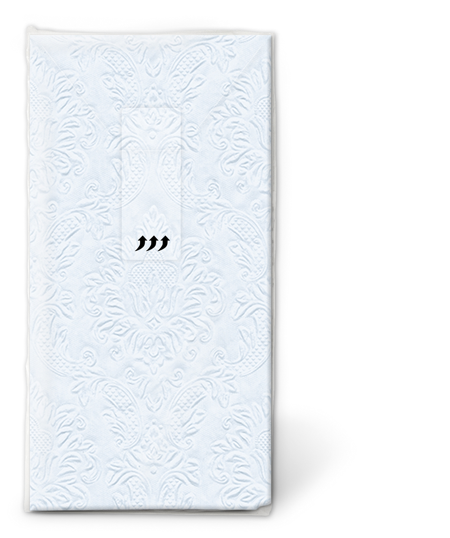 Taschentücher - Momente Ornament pastellblau
