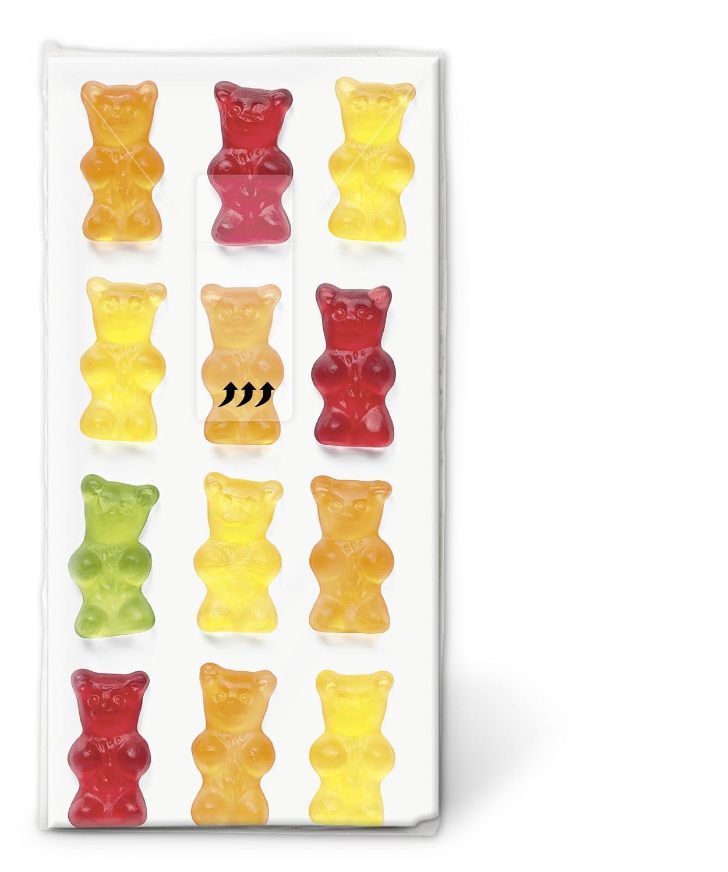 Taschentücher TT Jelly babies,  Everyday,  bedruckte papiertaschentücher