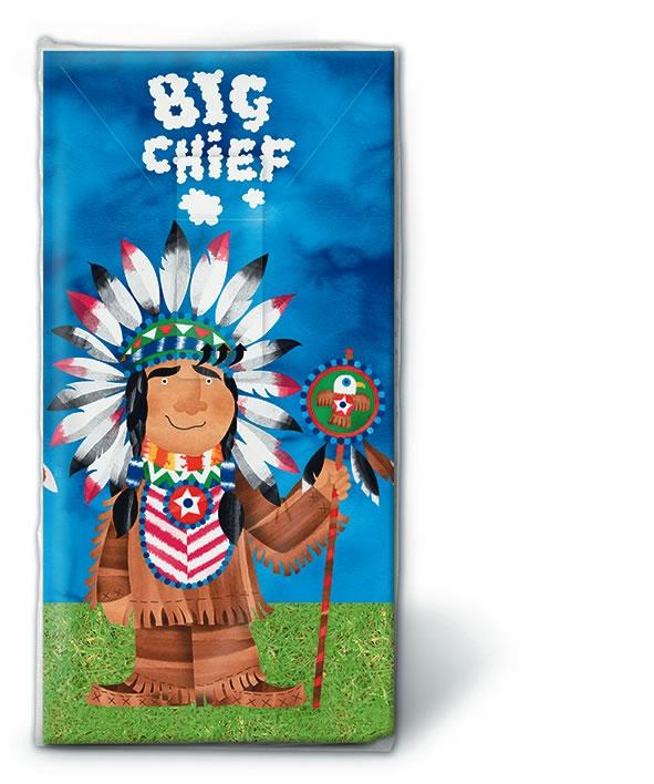 Taschentücher TT Big chief,  Everyday,  bedruckte papiertaschentücher,  Indianer