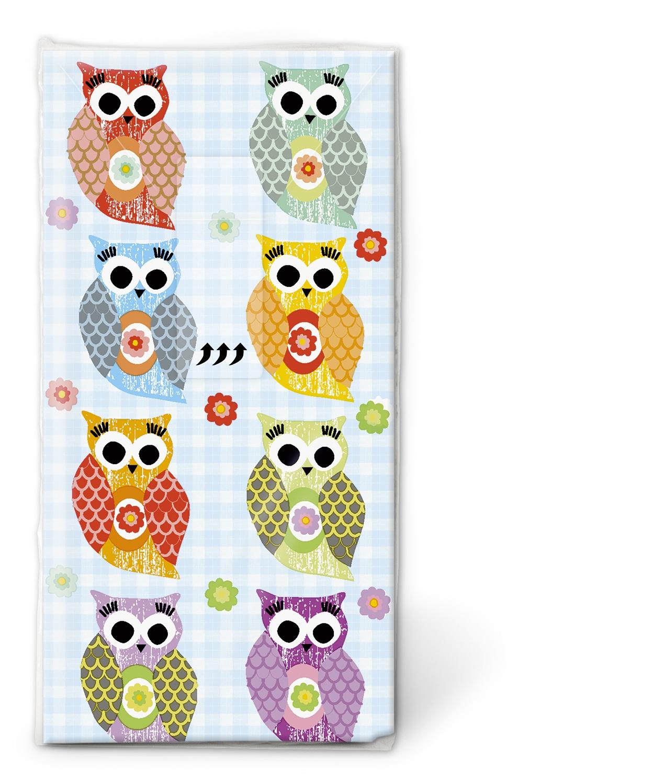 Taschentücher TT Funny owls,  Tiere,  Everyday,  bedruckte papiertaschentücher,  Eulen