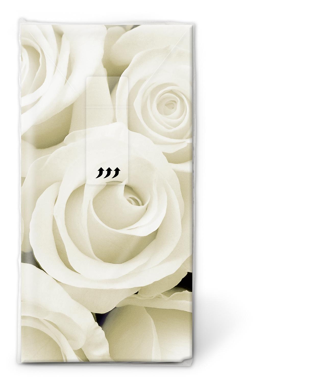 Taschentücher TT Wedding roses,  Blumen,  Everyday,  bedruckte papiertaschentücher,  Rosen