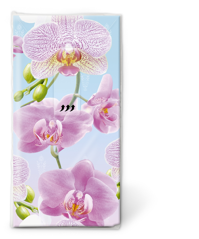 Paper+Design,  Blumen,  Everyday,  bedruckte papiertaschentücher,  Orchideen