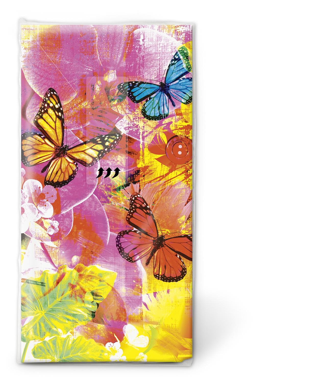 Taschentücher / Jahreszeiten,  Tiere,  Everyday,  bedruckte papiertaschentücher,  Schmetterlinge
