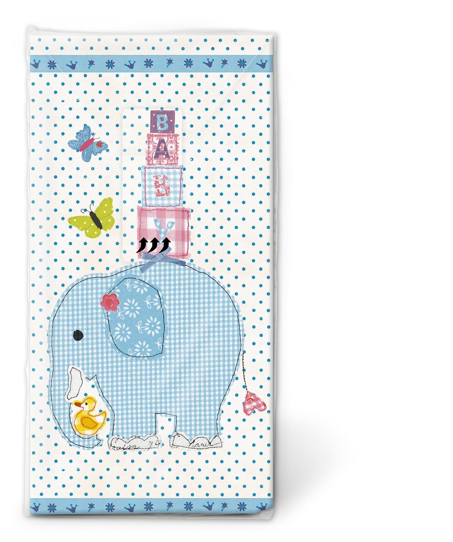 Taschentücher / Firmen,  Ereignisse,  Everyday,  bedruckte papiertaschentücher,  Geburt,  Baby,  Jungen