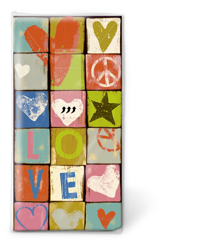 Servietten nach Ereignissen,  Ereignisse,  Everyday,  bedruckte papiertaschentücher,  Liebe
