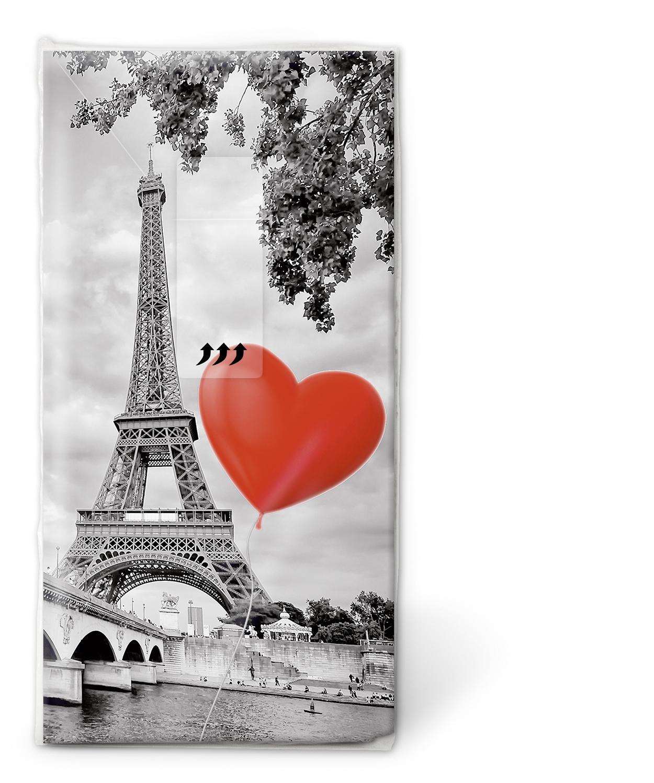 Taschentücher TT City of love,  Regionen,  Ereignisse,  Everyday,  bedruckte papiertaschentücher,  Liebe,  Eifelturm,  Frankreich