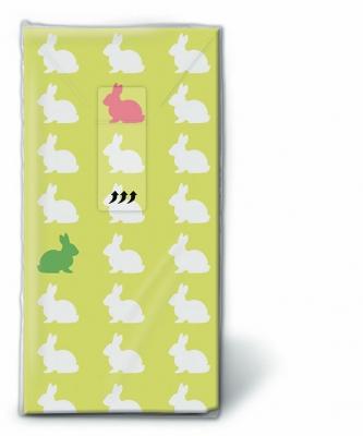 Taschentücher TT Hares pattern,  Tiere,  Ostern,  bedruckte papiertaschentücher,  Hasen