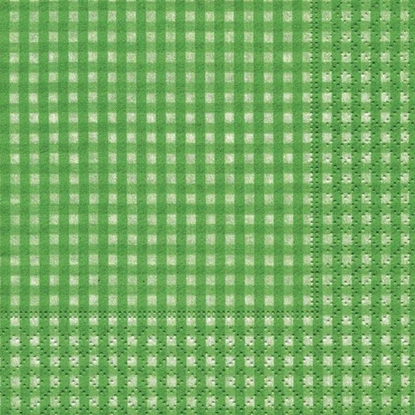 20 Servietten - 25 x 25 cm Vichy green,  Sonstiges - Muster,  Everyday,  cocktail servietten,  Karos