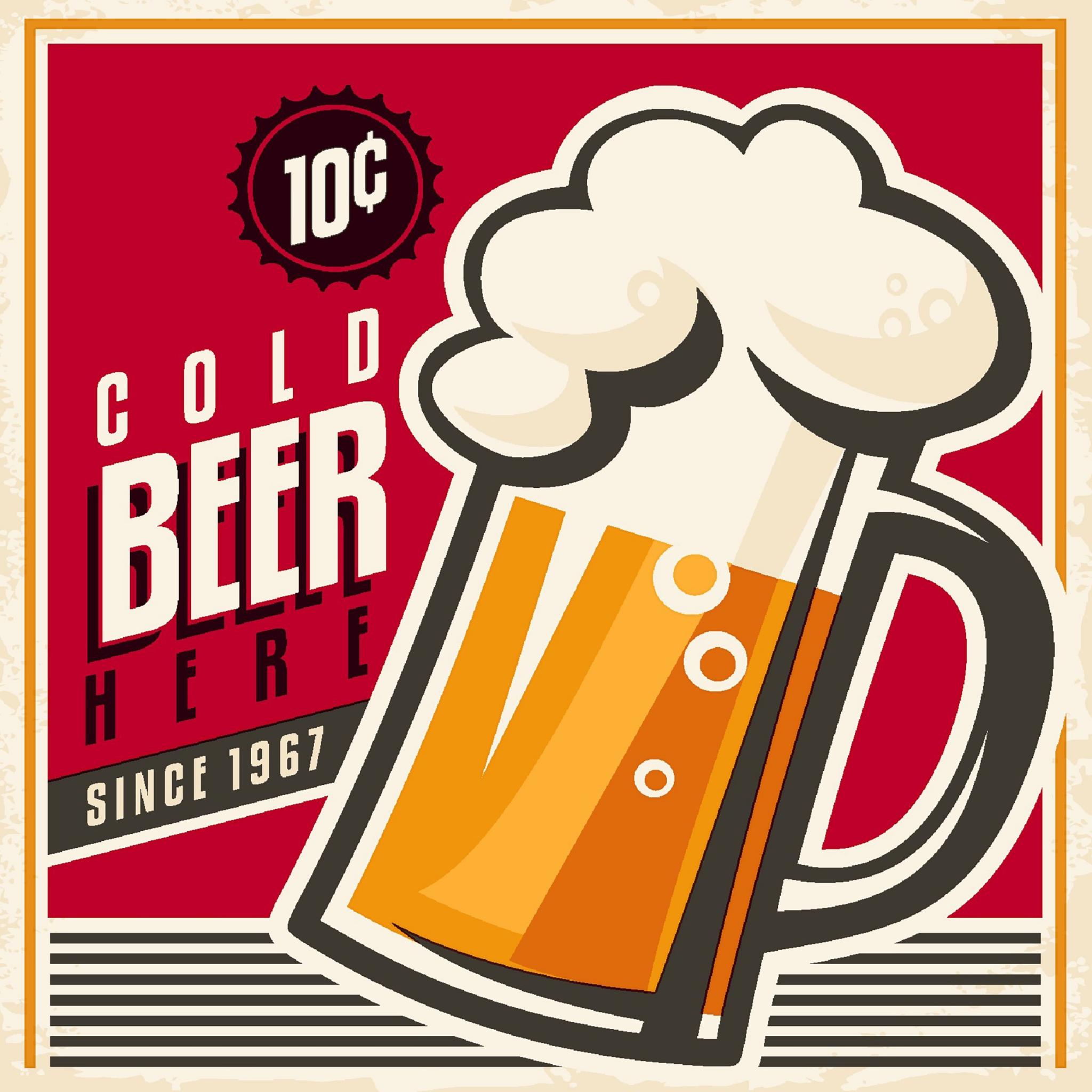 Cocktail Servietten Cold beer