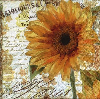 Servietten / Sonnenblumen,  Blumen -  Sonstige,  Herbst,  cocktail servietten,  Blumen