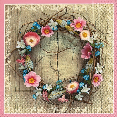 Lunch Servietten Spring wreath