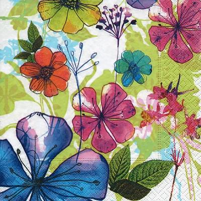 Lunch Servietten Flower collage,  Blumen -  Sonstige,  Everyday,  lunchservietten,  Blumen