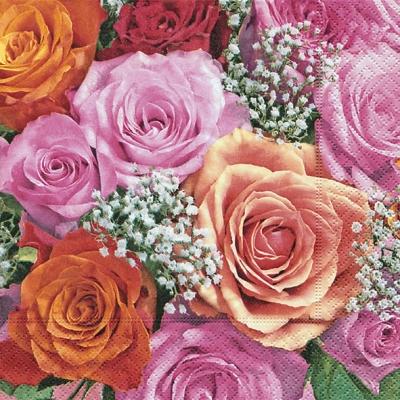 Lunch Servietten Bridal rose,  Blumen - Rosen,  Everyday,  lunchservietten,  Rosen