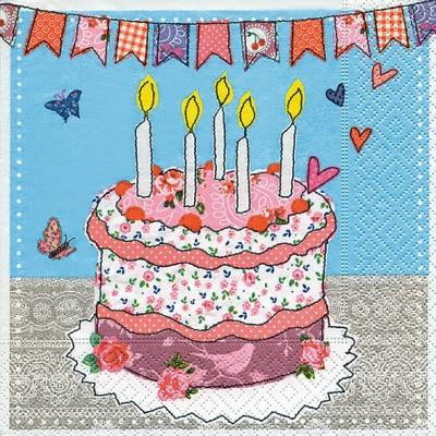 Lunch Servietten Birthday surprise,  Essen - Kuchen / Keks,  Ereignisse - Geburtstag,  Everyday,  lunchservietten,  Torte,  Geburtstag