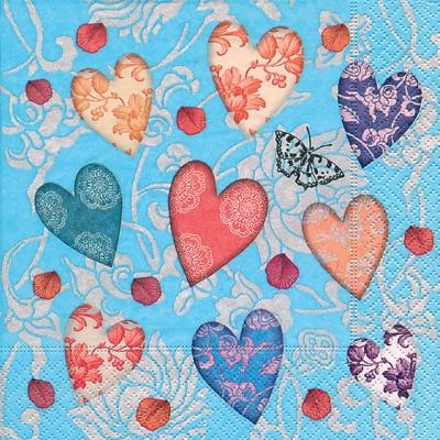 Lunch Servietten Shower of love,  Ereignisse - Liebe,  Everyday,  lunchservietten,  Liebe,  Herz
