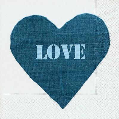 Lunch Servietten Jeans heart,  Ereignisse - Liebe,  Everyday,  lunchservietten,  Liebe,  Herz