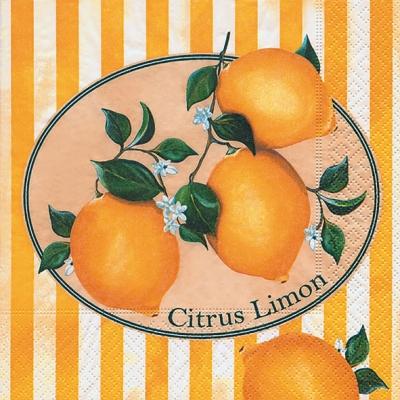 Lunch Servietten Citrus Limon,  Früchte - Südfrüchte,  Everyday,  lunchservietten,  Zitronen