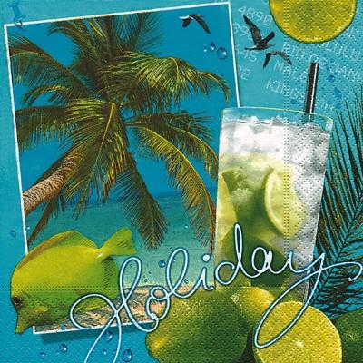 Paper+Design, Früchte - Südfrüchte,  Sonstiges - Schriften,  Tiere - Fische,  Sommer,  lunchservietten,  Zitronen,  Palmen,  Vögel,  Fische,  Meer