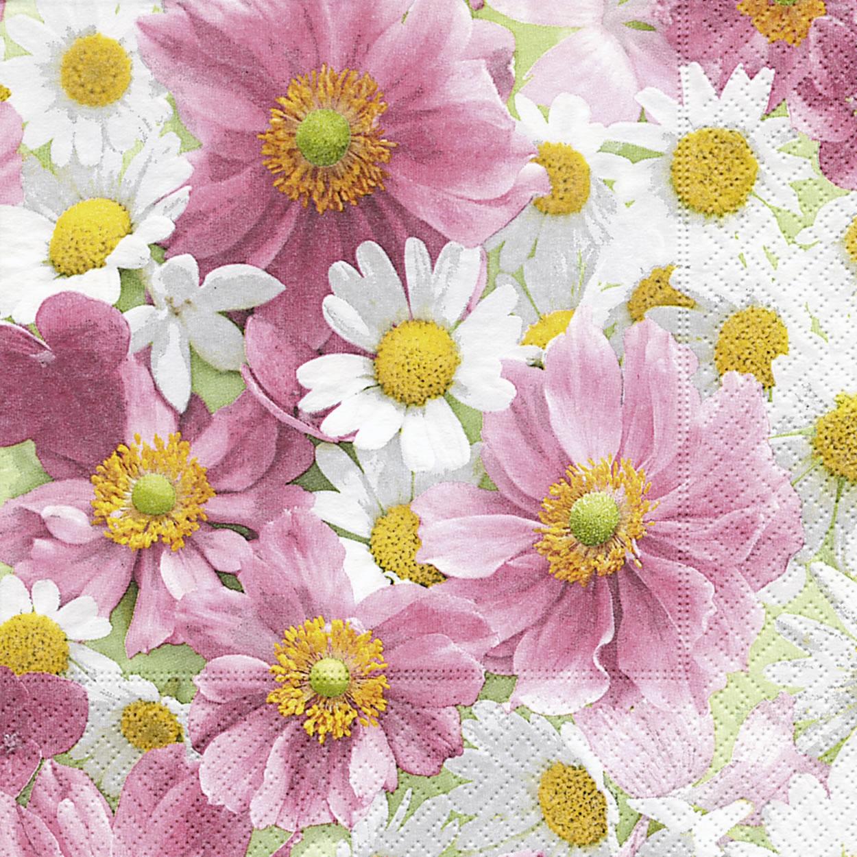 Lunch Servietten Blossom carpet,  Blumen -  Sonstige,  Blumen - Magariten,  Everyday,  lunchservietten,  Blumen