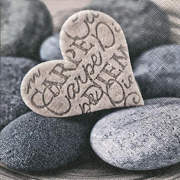 Servietten Everyday,  Sonstiges - Steine,  Ereignisse - Liebe,  Everyday,  lunchservietten,  Steine,  Herzen