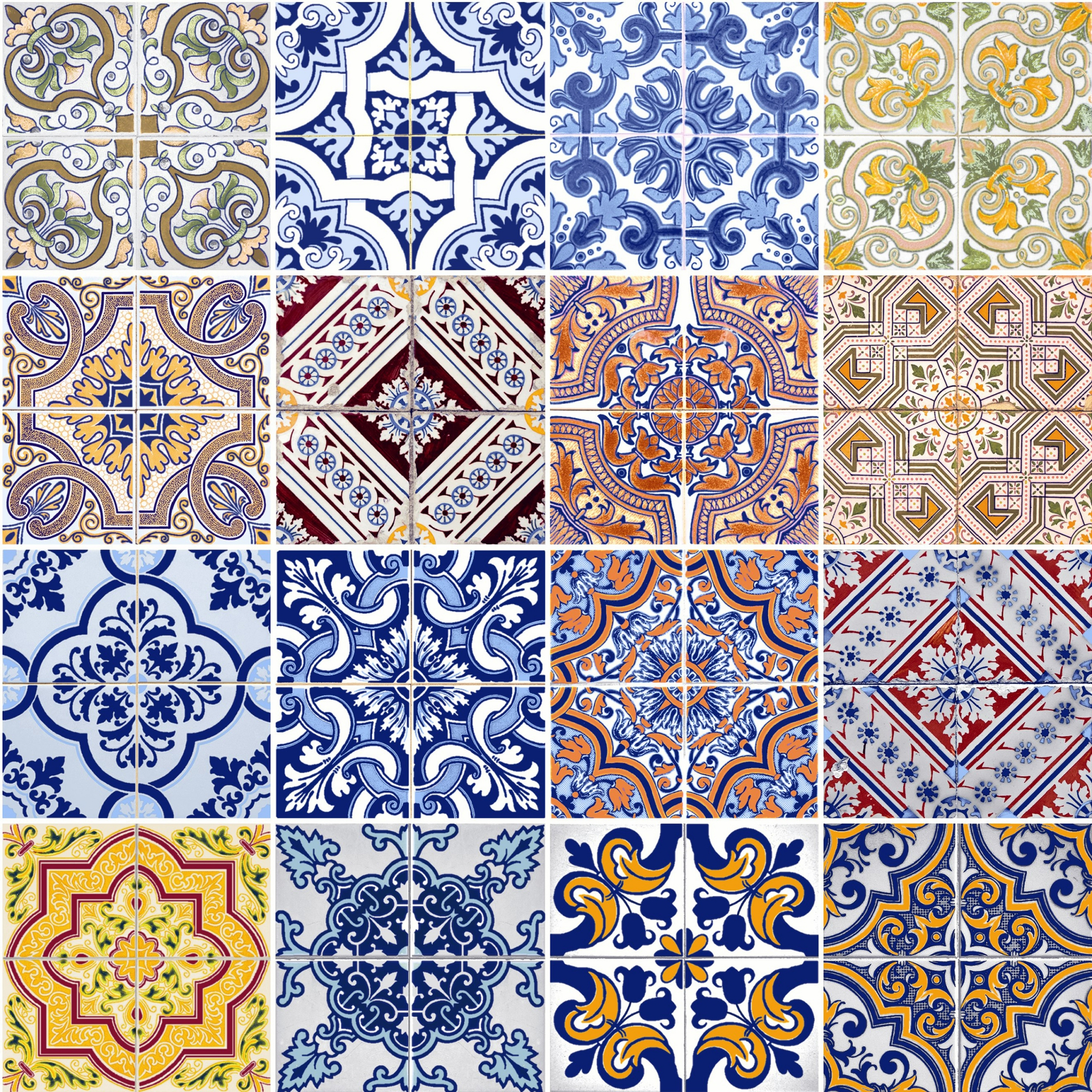 Serviettes lunch Tiles