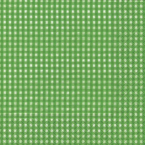20 Servietten - 33 x 33 cm Vichy green,  Sonstiges - Muster,  Everyday,  lunchservietten