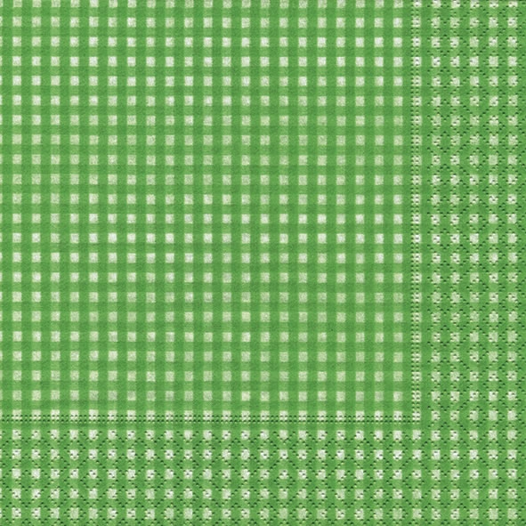 Lunch Servietten Vichy green