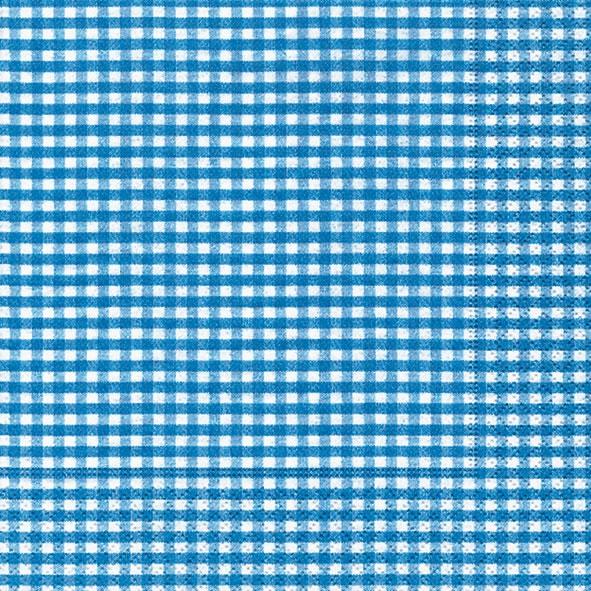 20 Servietten - 33 x 33 cm Vichy  blue,  Sonstiges - Muster,  Everyday,  lunchservietten