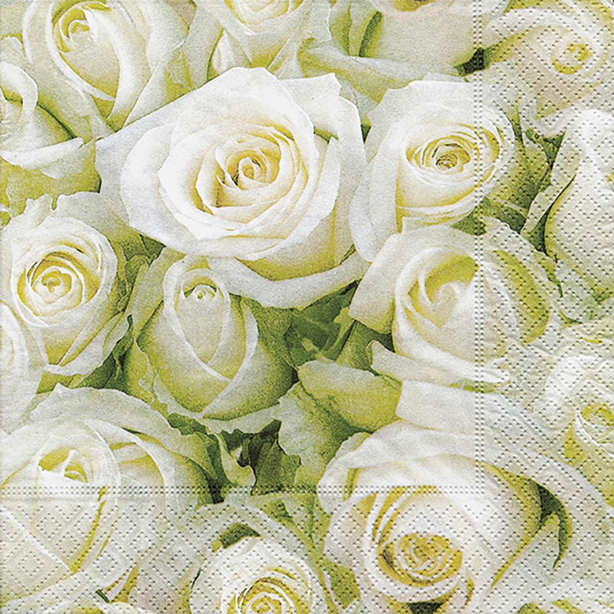 Lunch Servietten White roses,  Everyday,  lunchservietten