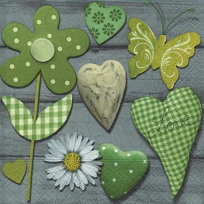 Servietten nach Ereignissen,  Tiere - Schmetterlinge,  Ereignisse - Liebe,  Everyday,  lunchservietten,  Blumen,  Herz,  Muster,  Schmetterlinge