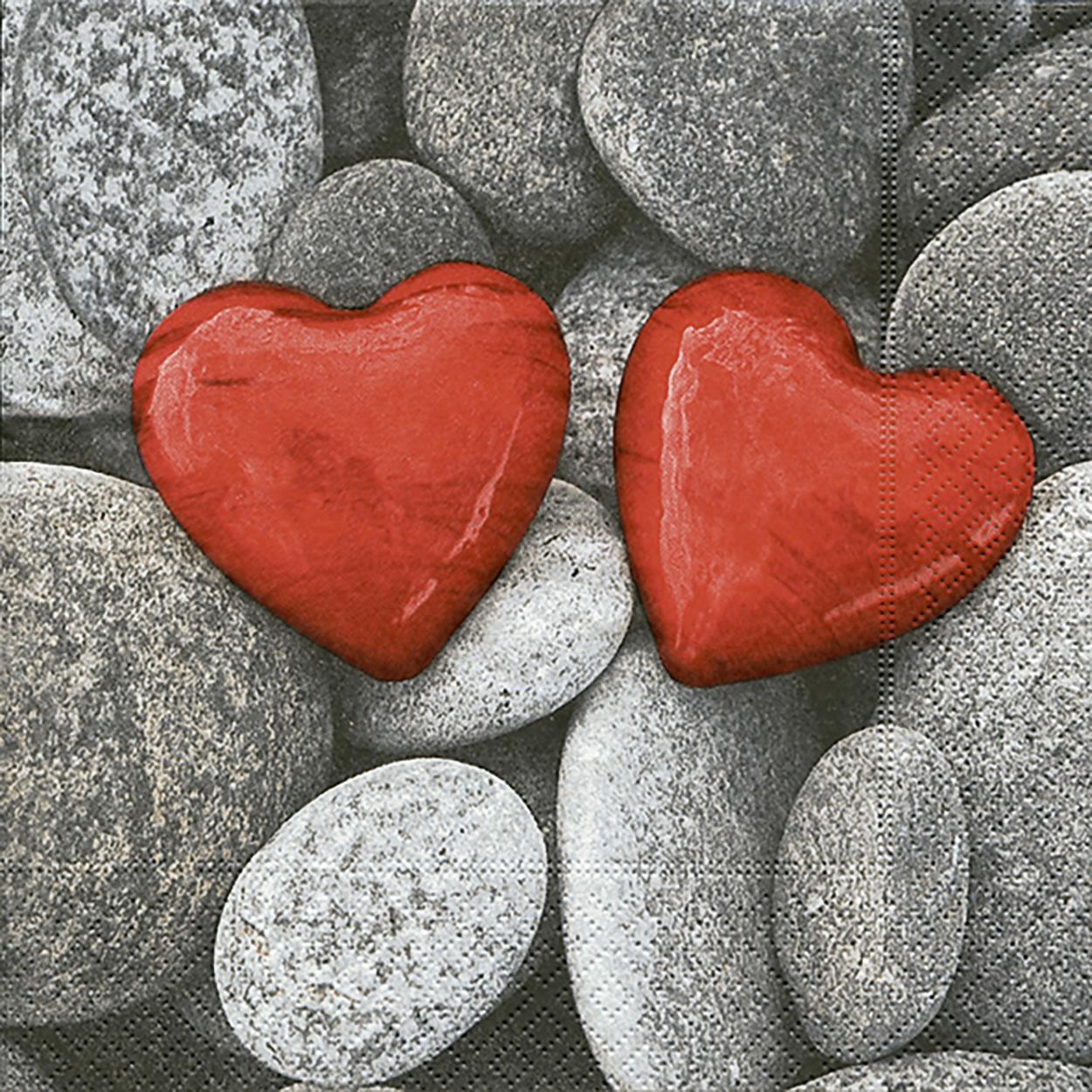 Lunch Servietten Love stones,  Sonstiges - Steine,  Everyday,  lunchservietten,  Liebe,  Herz,  Steine