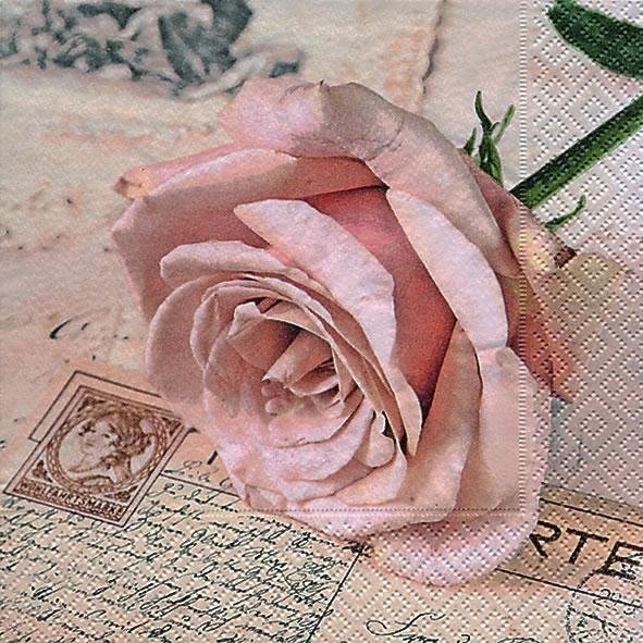 Lunch Servietten Postcard rose