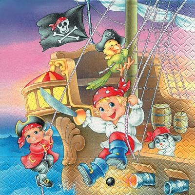 Everyday,  Everyday,  lunchservietten,  Kinder,  Schiff,  Piraten