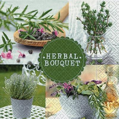 Lunch Servietten Herbal bouquet,  Everyday,  lunchservietten,  Kräuter