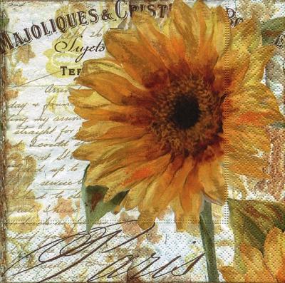 Paper+Design,  Blumen - Sonnenblumen,  Herbst,  lunchservietten,  Sonnenblume