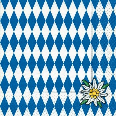 Lunch Servietten Bavaria,  Regionen -  Sonstige,  Blumen -  Sonstige,  Everyday,  lunchservietten,  Blumen,  Bayern