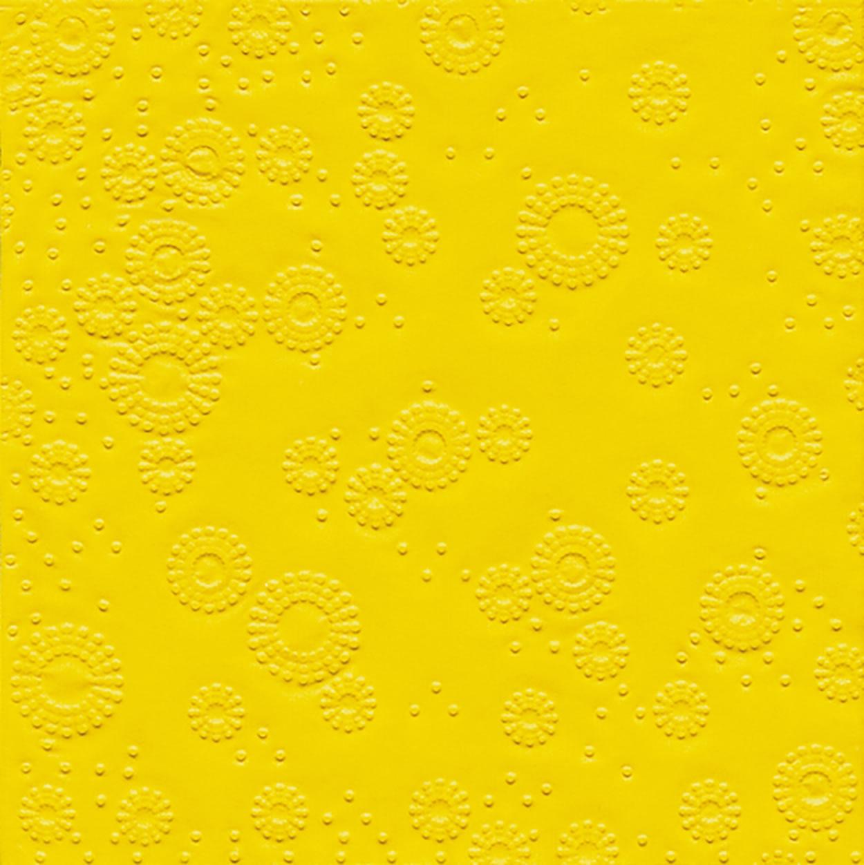 Lunch Servietten Moments Uni yellow - geprägt