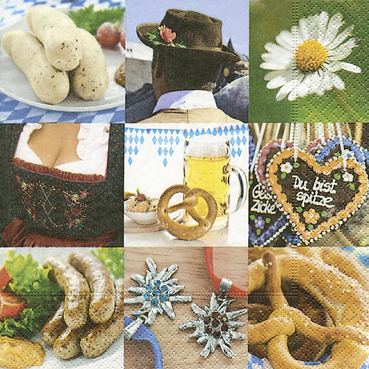 Servietten / Margariten, Essen -  Sonstiges,  Ereignisse -  Sonstige,  Essen - Brot / Brötchen,  Blumen - Magariten,  Everyday,  lunchservietten,  Bier,  München,  Bayern,  Blumen,  Herzen