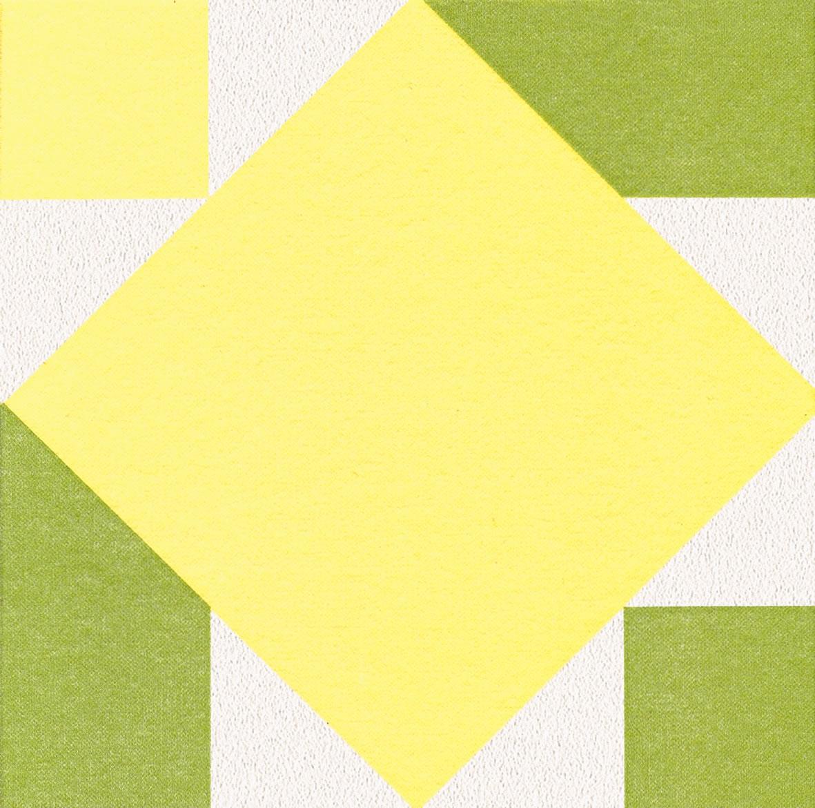 Dinner Servietten Origami Serviette Seerose gelb/grün, dinnerservietten