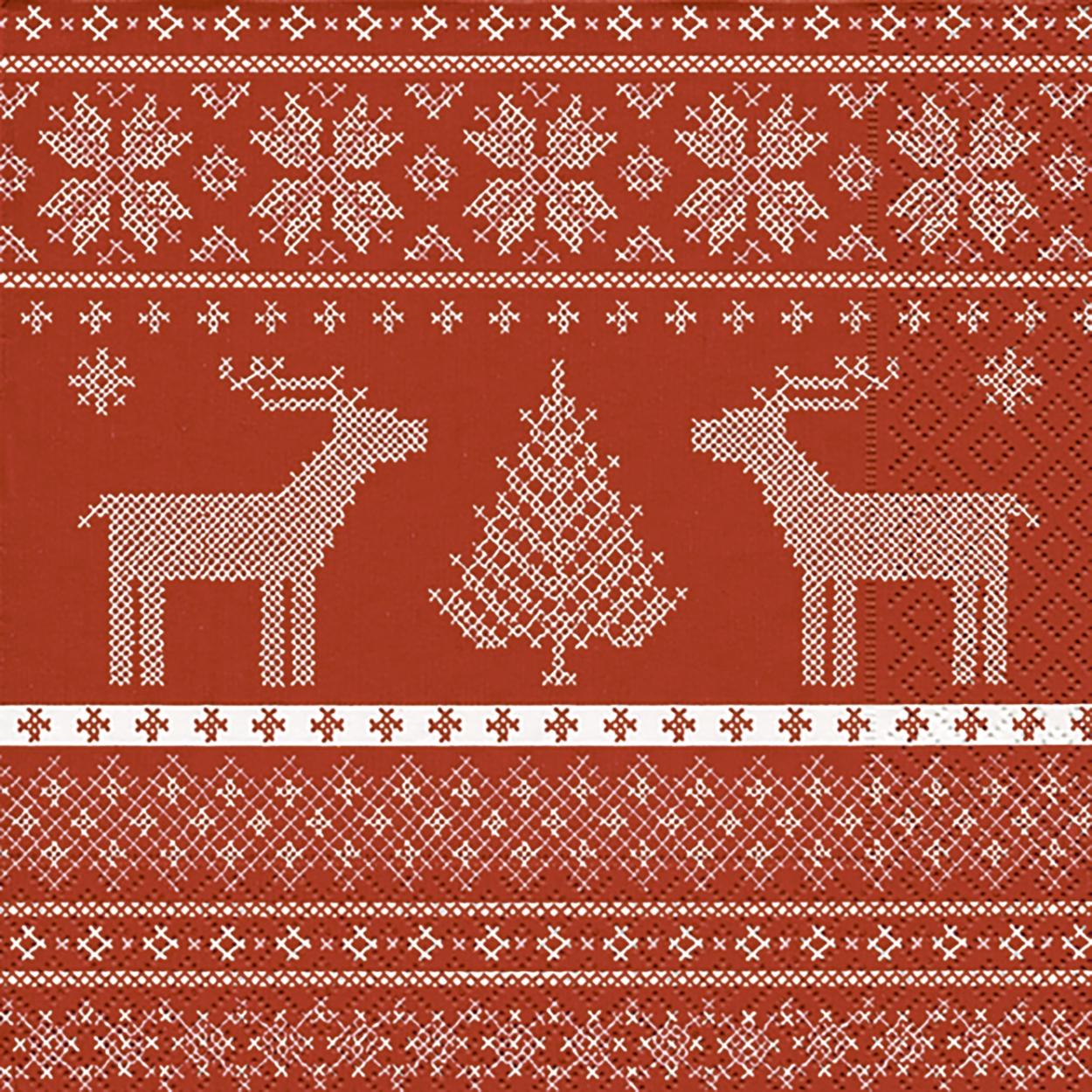 Servietten / Rentiere,  Tiere - Rentiere,  Weihnachten - Weihnachtsbaum,  Weihnachten,  cocktail servietten,  Weihnachtsbaum,  Rentier