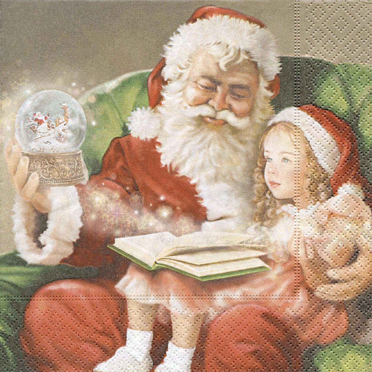 Cocktail Servietten A Christmas carol,  Menschen - Kinder,  Weihnachten - Weihnachtsmann,  Weihnachten,  cocktail servietten,  Weihnachtsmann,  Kinder
