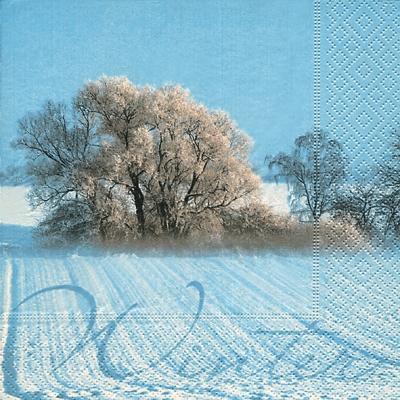 Servietten / Schriften,  Sonstiges - Schriften,  Winter - Schnee,  Weihnachten,  cocktail servietten,  Schnee,  Bäume,  Schriften