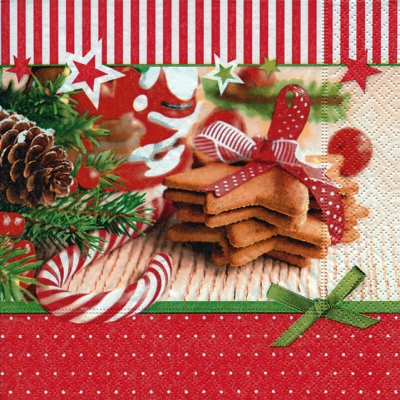 Lunch Servietten Christmas goodies,  Essen - Kuchen / Keks,  Essen - Süßigkeiten,  Weihnachten,  lunchservietten,  Kekse