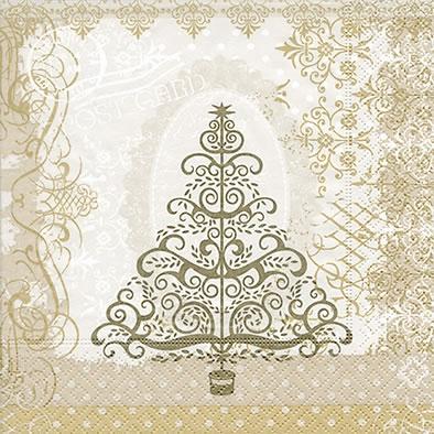 Lunch Servietten Baroque tree gold
