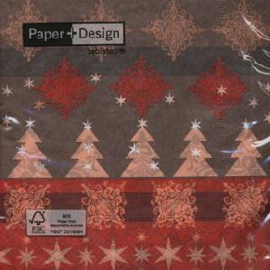 Servietten / Weihnachtsbaum,  Weihnachten - Weihnachtsbaum,  Weihnachten - Sterne,  Weihnachten,  lunchservietten,  Weihnachtsbaum,  Ornamente,  Sterne