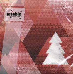Artablo,  Weihnachten,  lunchservietten,  Weihnachtsbaum,  Muster,  rot